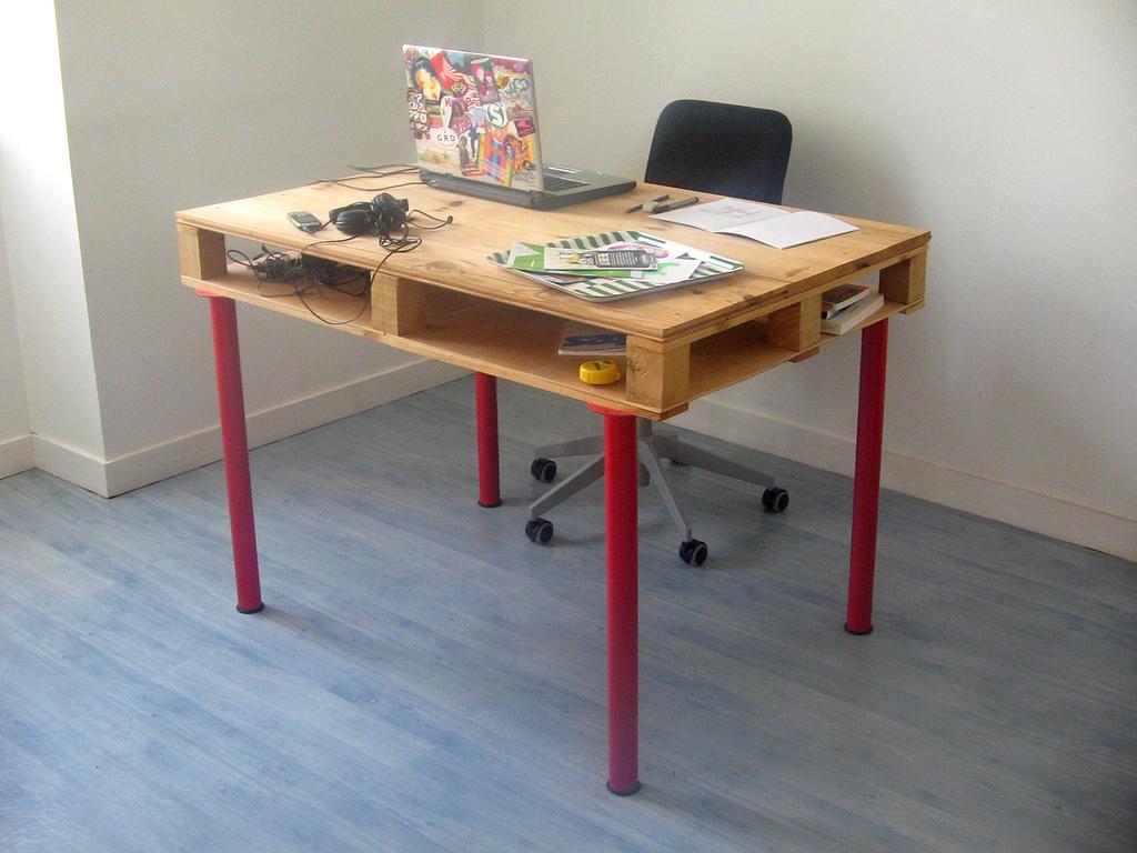 Nos conseils pour fabriquer un bureau enpalettes